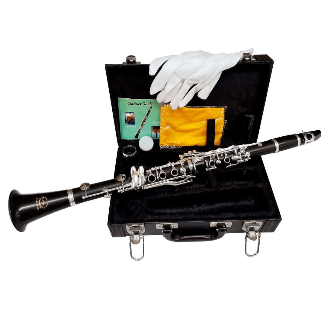 Clarinete de Madeira Maybach M1104PBS - 17 Chaves - Acompanha Estojo e 2 barriletes