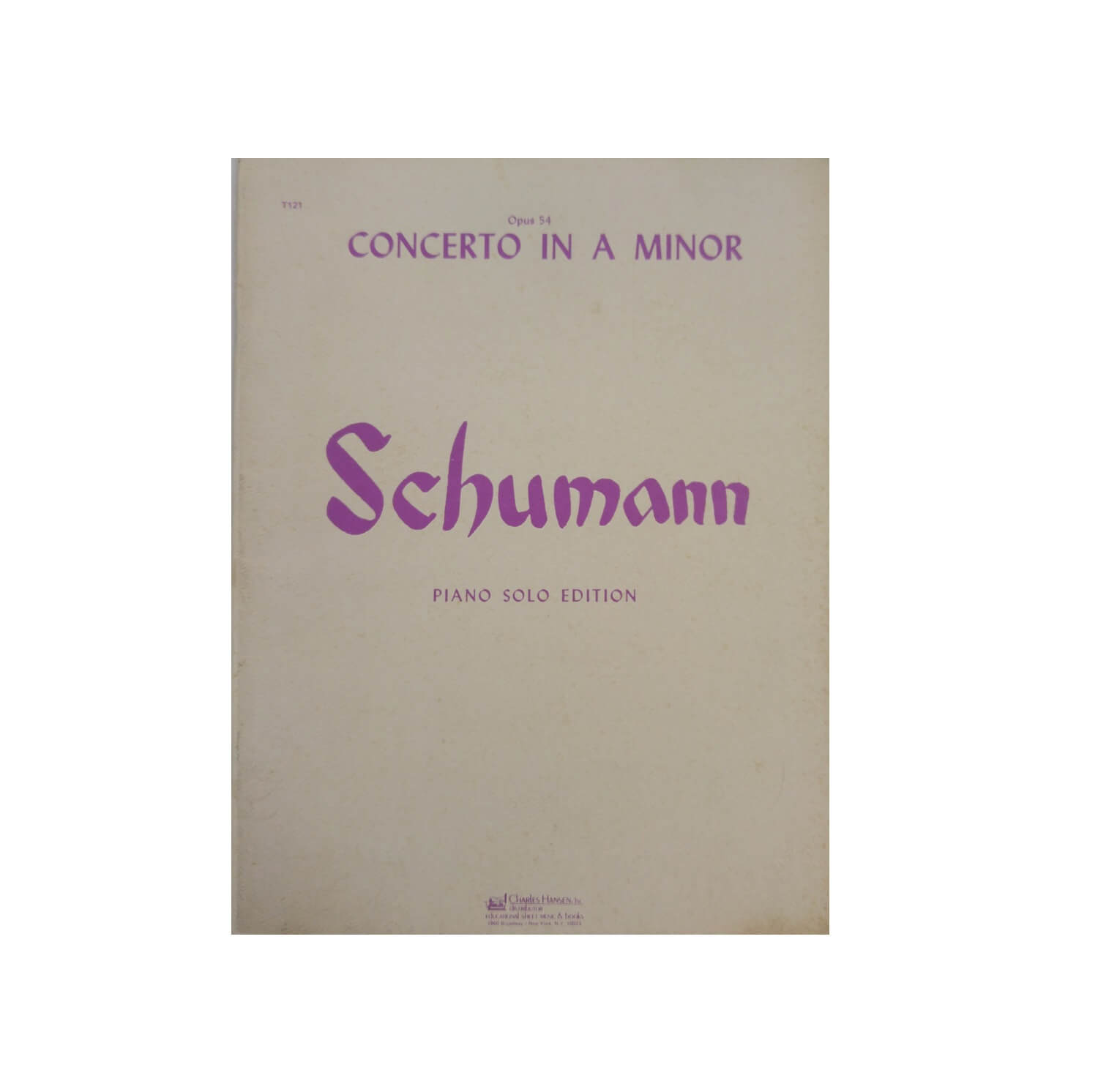 Concerto in a Minor Schumann Piano Solo Edition - Opus 54 - T121