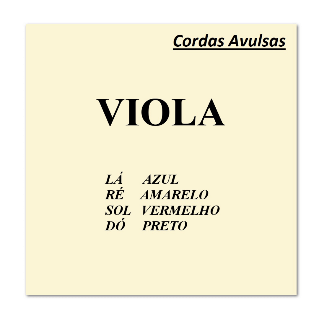 Cordas Avulsas Mauro Calixto para Viola de Arco