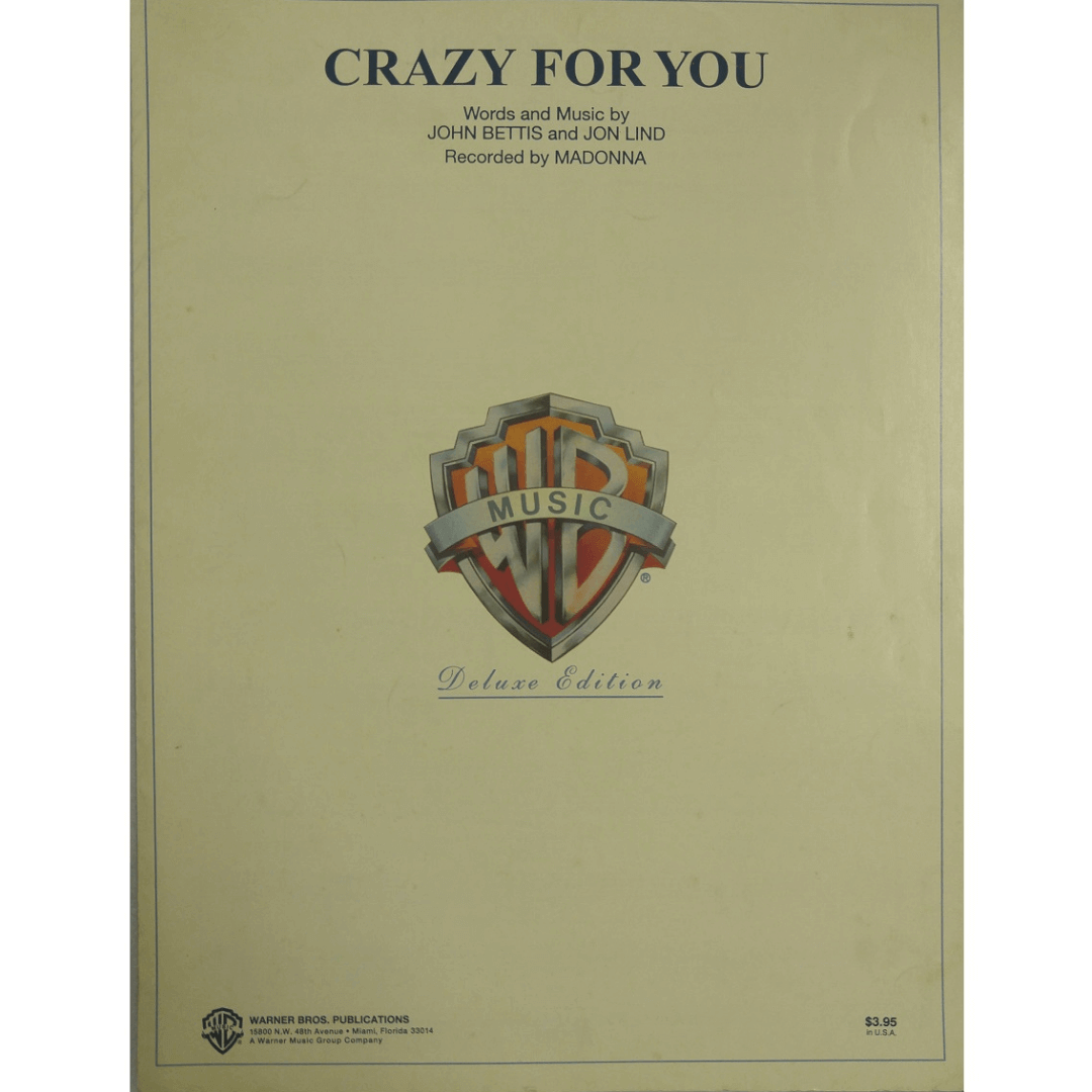 Crazy For You - Words and Music by John Bettis and Jon Lind - Recorded by Madonna - VS4326