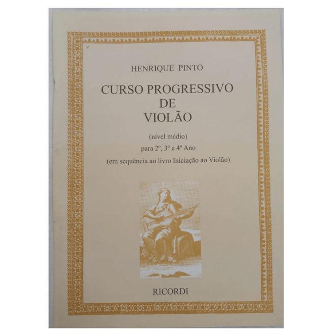 Curso Progressivo de Violão Médio (Nível Médio) - Henrique Pinto RB0381