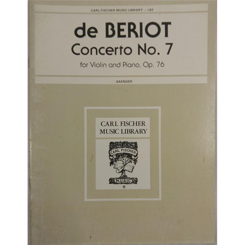 De Beriot Concerto No. 7 para violino e piano, Op. 76 - L82