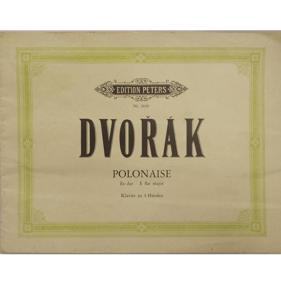 Dvorak Polonaise Es-dur . E flat major Klavier zu 4 Handen - Edition Peters NR2649