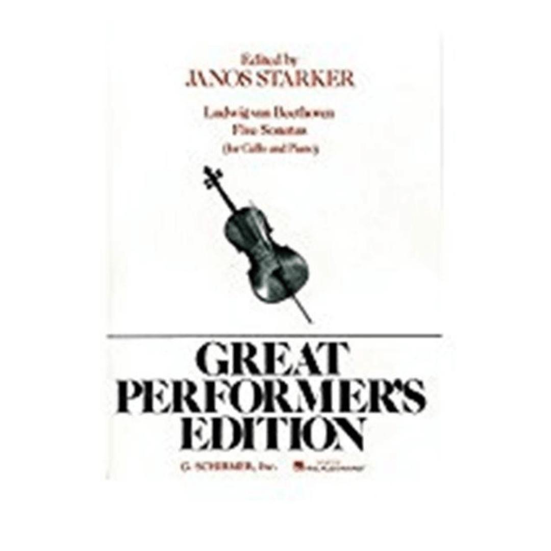 Edited by Janos Starker Ludwig van Beethoven 5 sonatas (para violoncelo e piano)