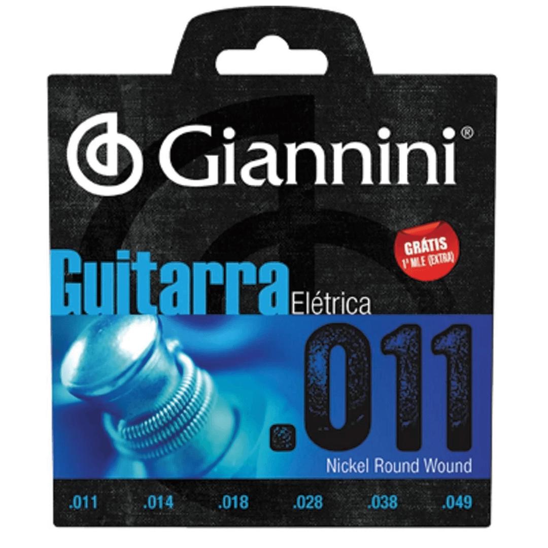 Encordoamento Com Revestimento Em Níquel Guitarra 0.011 - Giannini GEEGST.11