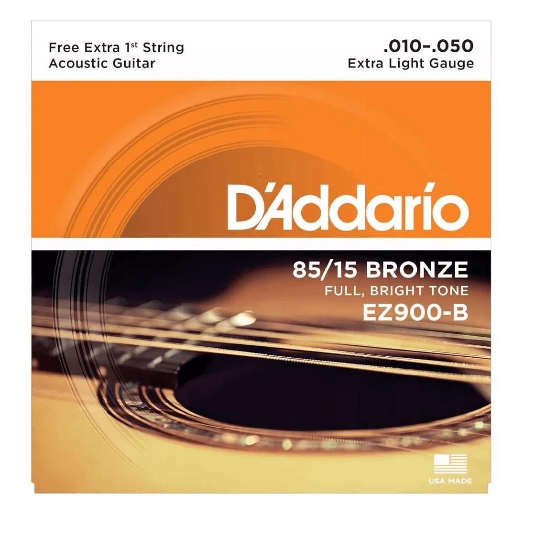 Encordoamento Para Violão Aço D'addario Ez900B Bronze 010 - 050