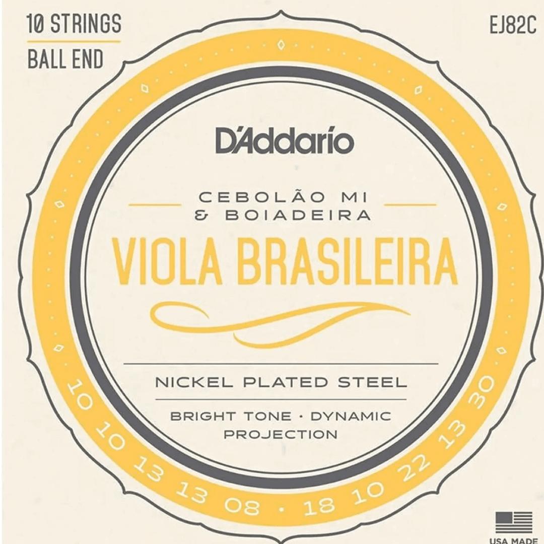 Encordoamento Viola Cebolão Mi E Boiadeira D'Addario - EJ82C