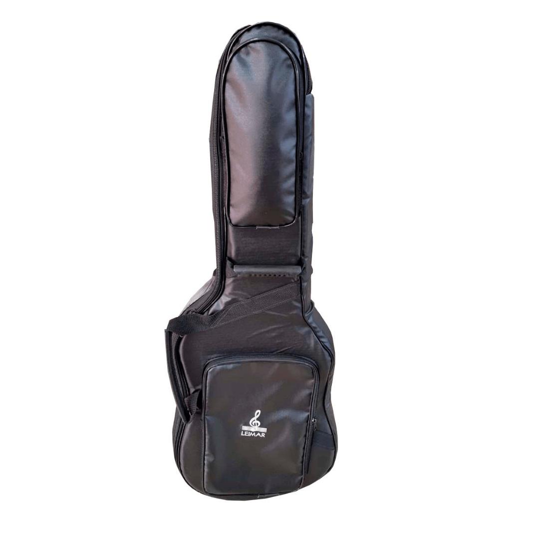 Capa Bolsa Acolchoada Couro Ecológico para Guitarra Leimar