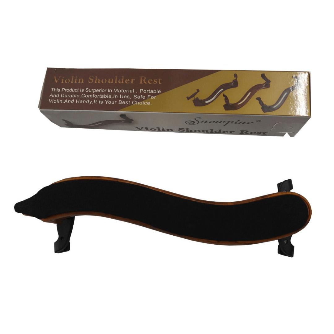Espaleira de Plástico Para Violino Snowpine Shoulder Rest 3/4 e 4/4 Marrom (Ajustável) SR03CBW