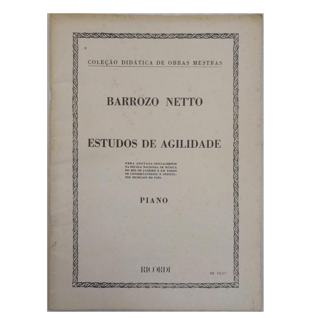 ESTUDOS DE AGILIDADE - Coleção Didática de Obras Mestras - Piano - Barrozo Netto - RB0037