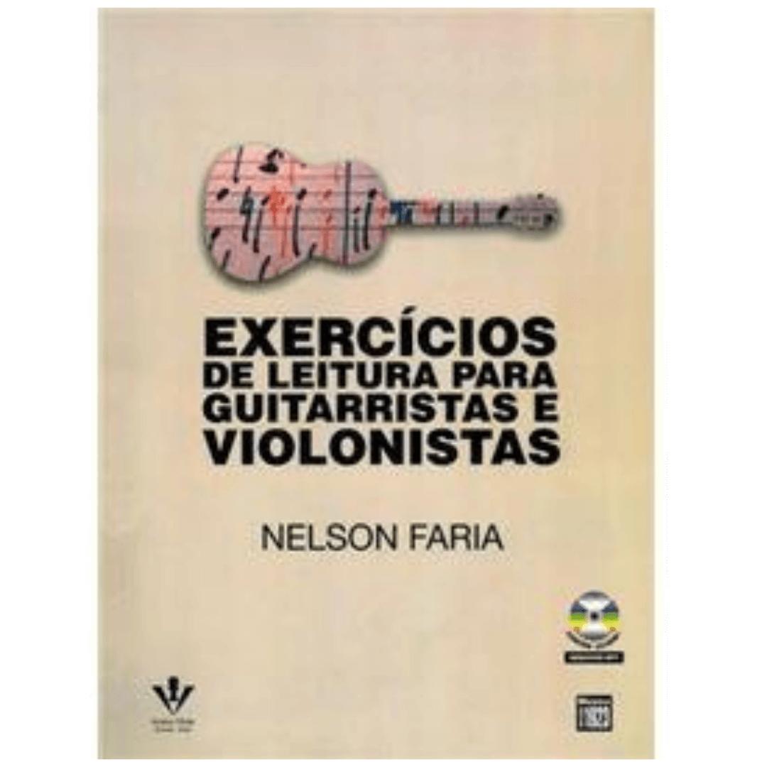 Exercícios de Leitura Para Guitarristas e Violonistas - Nelson Faria Acompanha Cd - 427M