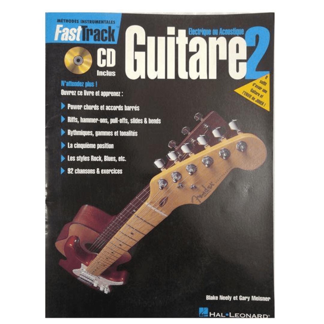 FastTrack méthode de Guitare Electrique ou Acoustique Volume 2 + CD