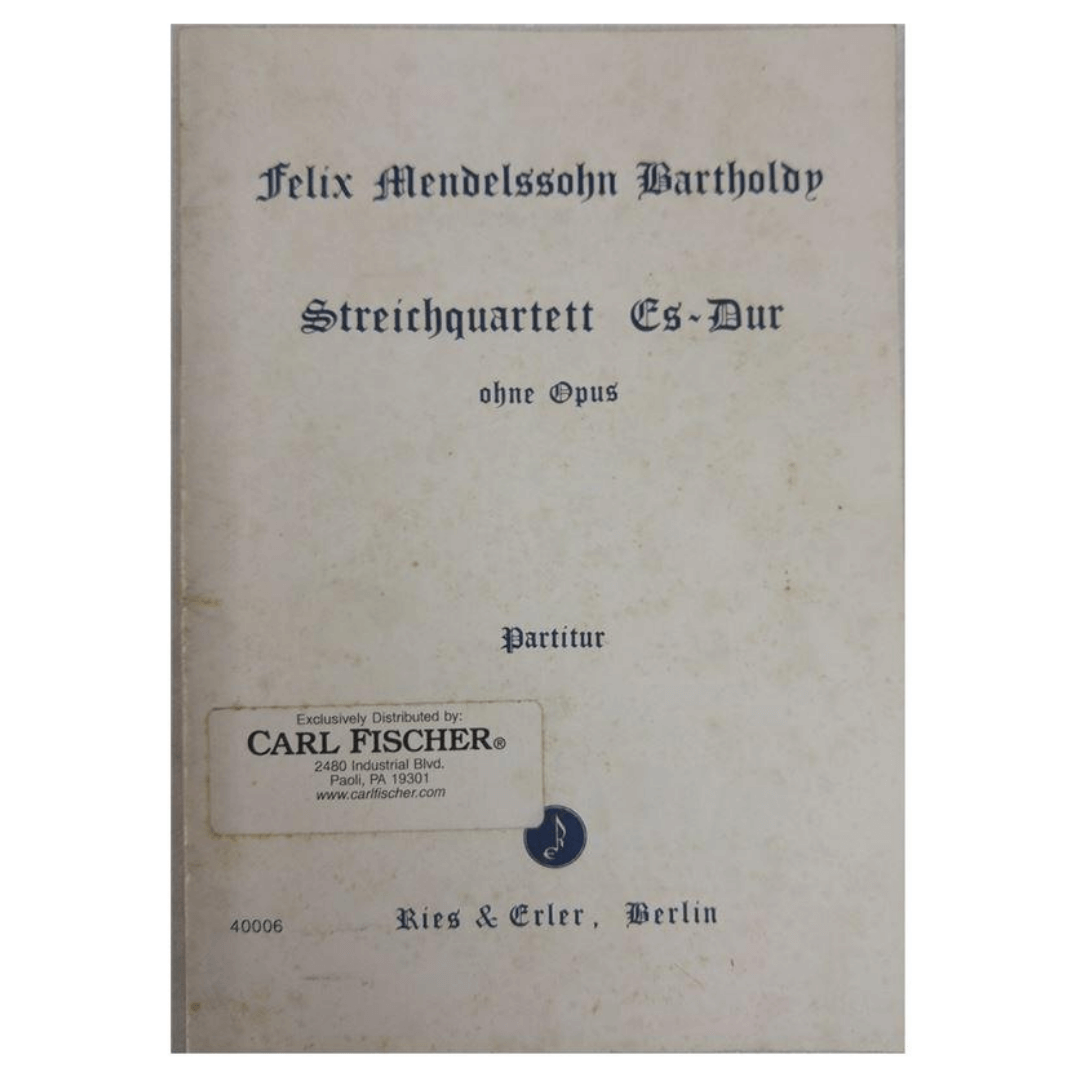 Felix Mendelssohn Bartholdy - Streichquartett Es-Dur ohne Opus Partitur