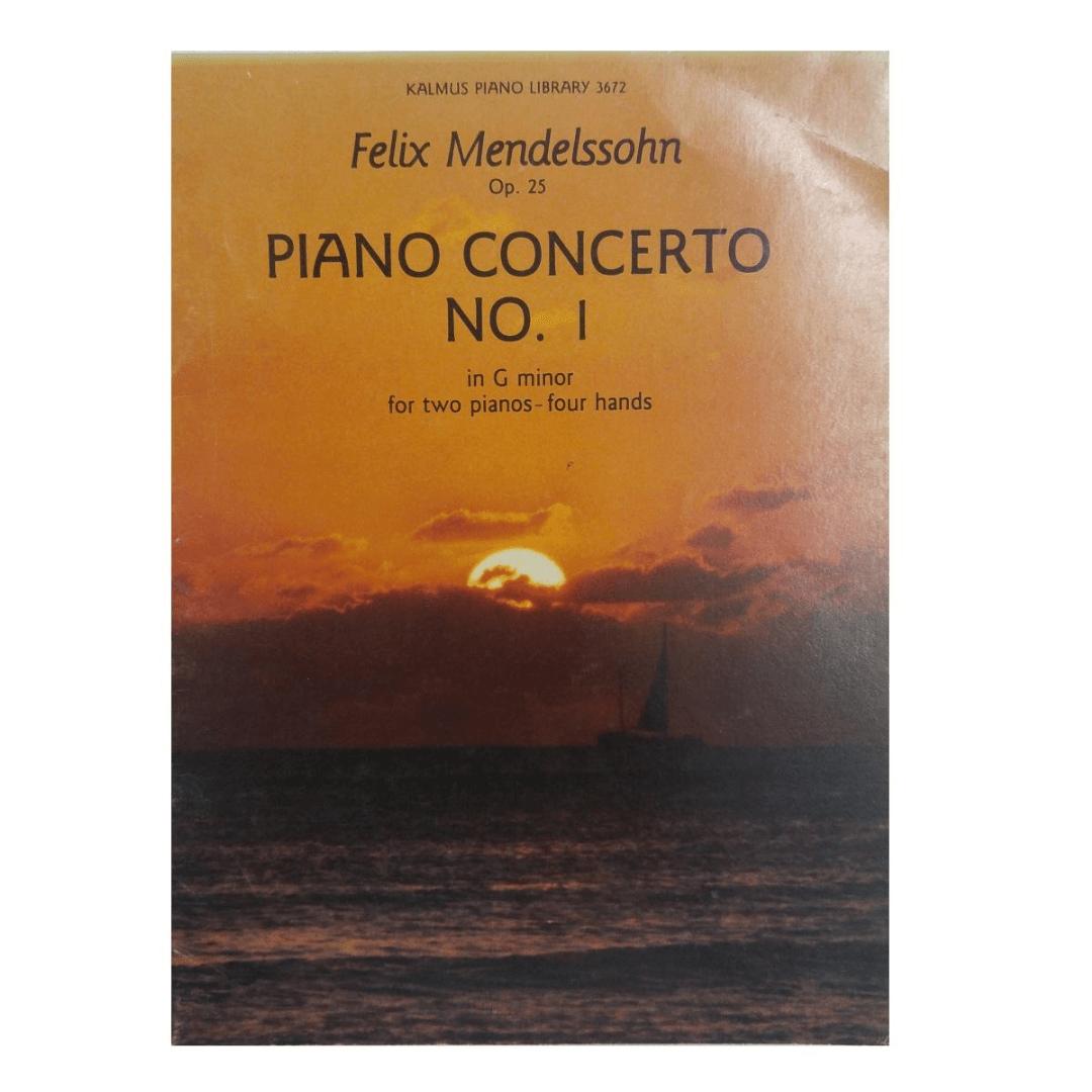 Felix Mendelssohn Op. 25 Piano Concerto No.1 in G minor for two Pianos - four hands K3672