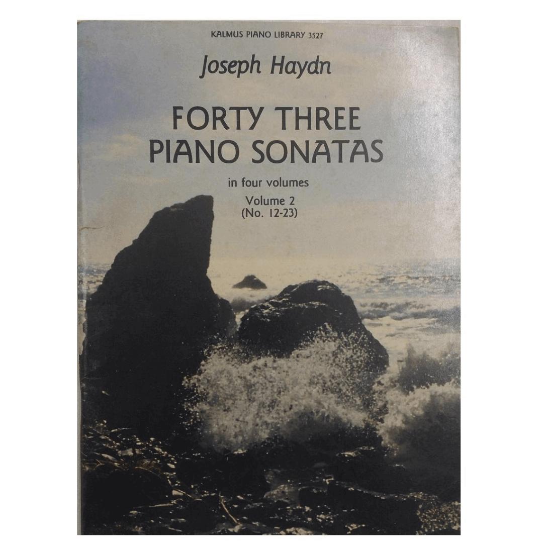 Forty Three Piano Sonatas in four volumes Volume 2 ( No. 12-23 ) Joseph Hayden K3527