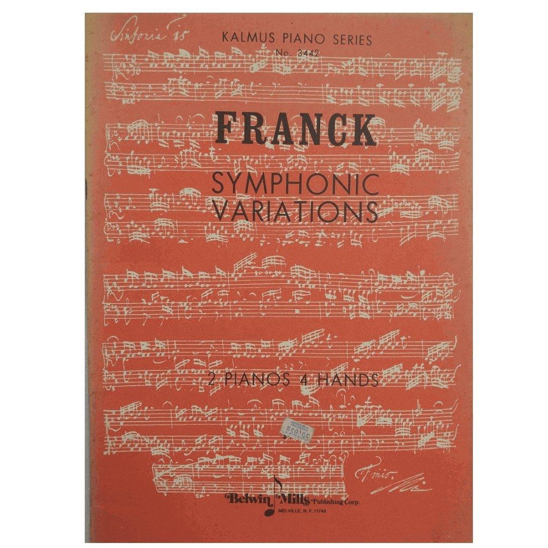 Franck Symphonic Variations 2 Pianos 4 Hands - Kalmus Piano Series No. 3442