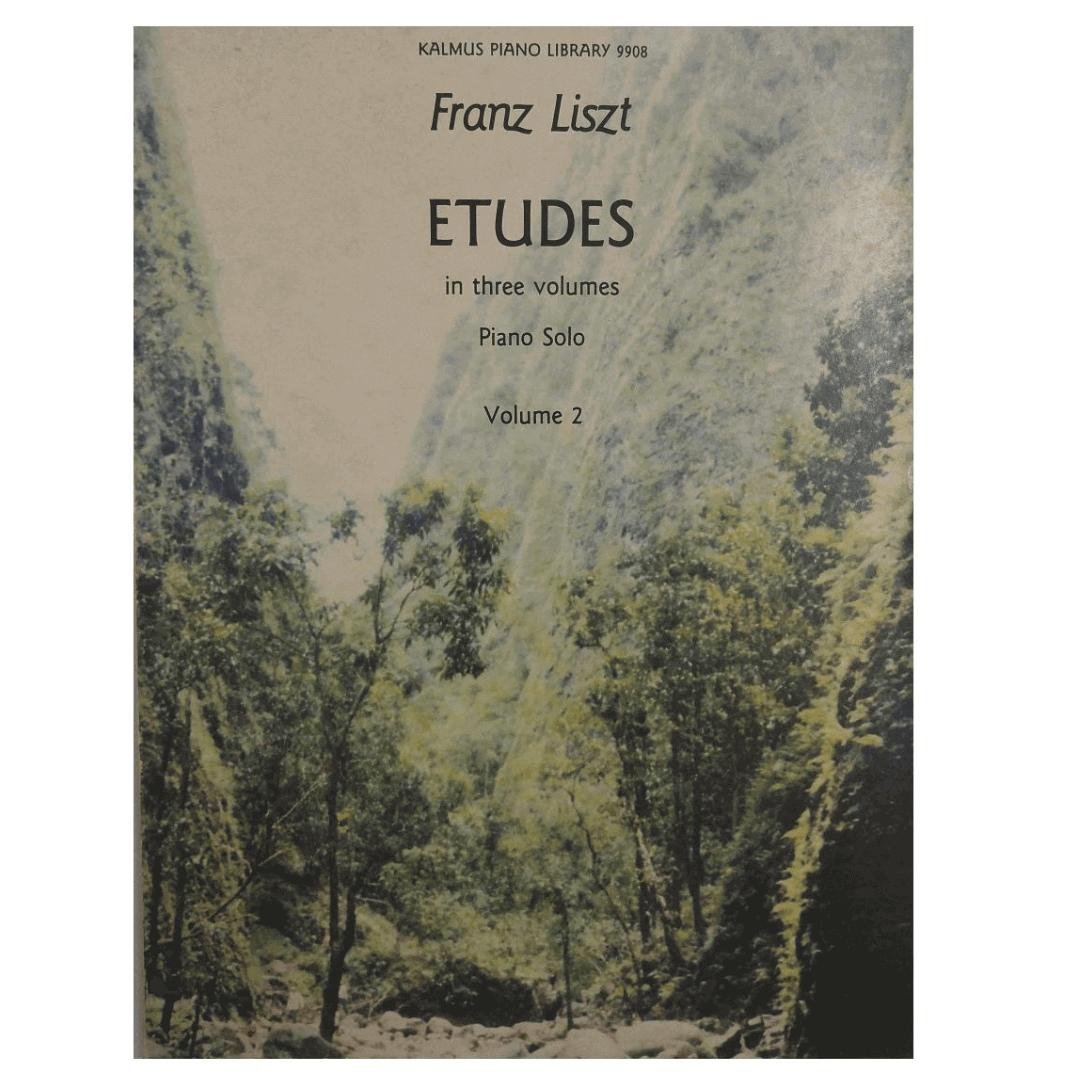 Franz Liszt Etudes int three volumes Piano Solo Volume 2 K9908