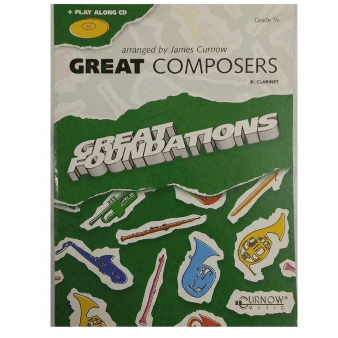 GREAT COMPOSERS Bb Clarinete - GRADE 1/2 + Play Along CD - Great Foundations CMP534