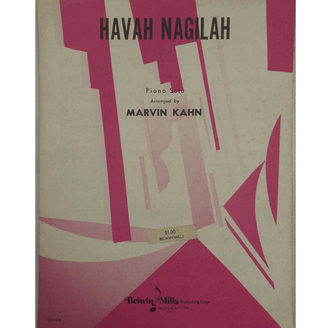 Havah Nagilah Piano Solo Arranged by Marvin Kahn 20404