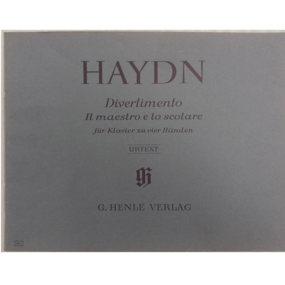 Haydn Divertimento il maestro e lo scolare fur Klavier zu vier Handen - Urtext - G. Henle Verlag 347