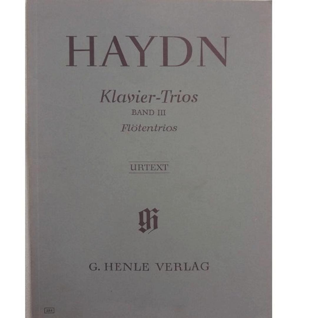 Haydn Klavier - Trios Band III Flotentrios - Urtext - G. Henle Verlag - 284