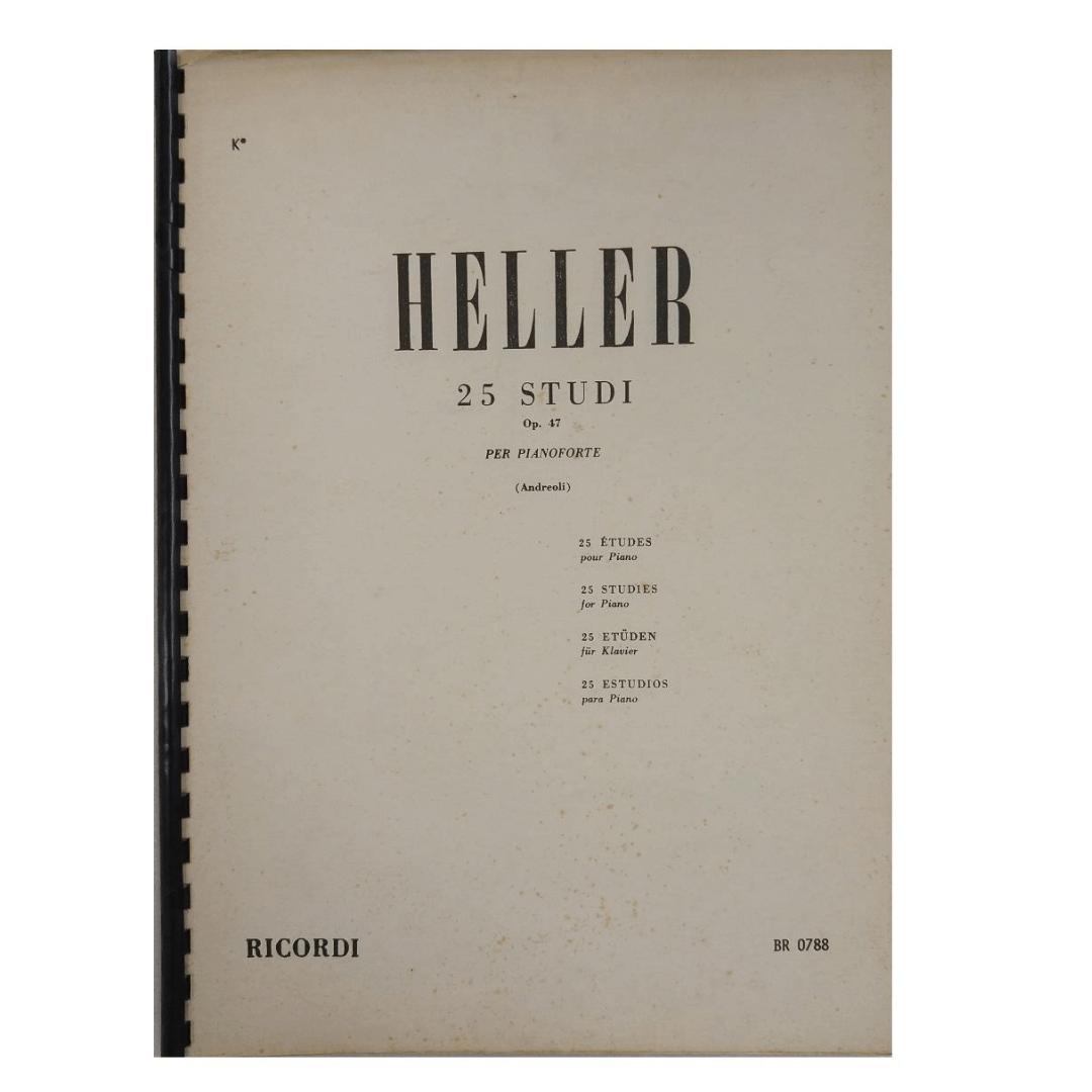 HELLER 25 ESTUDOS PARA PIANO - Op. 47 ( Andreoli ) - BR0788