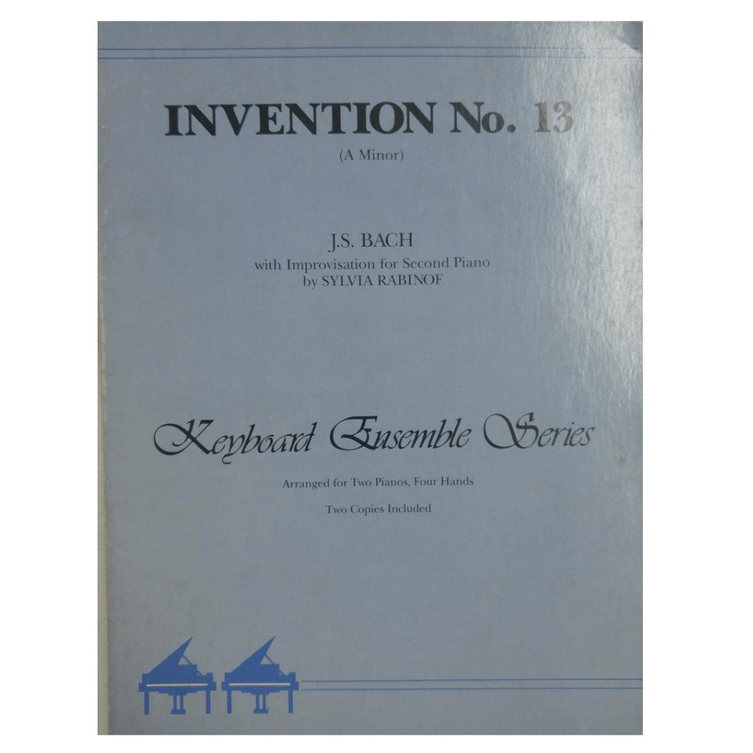 Invention No. 13 ( A Minor ) J.S. Bach With Improvisation for Second Piano by Sylvia Rabinof PA02315