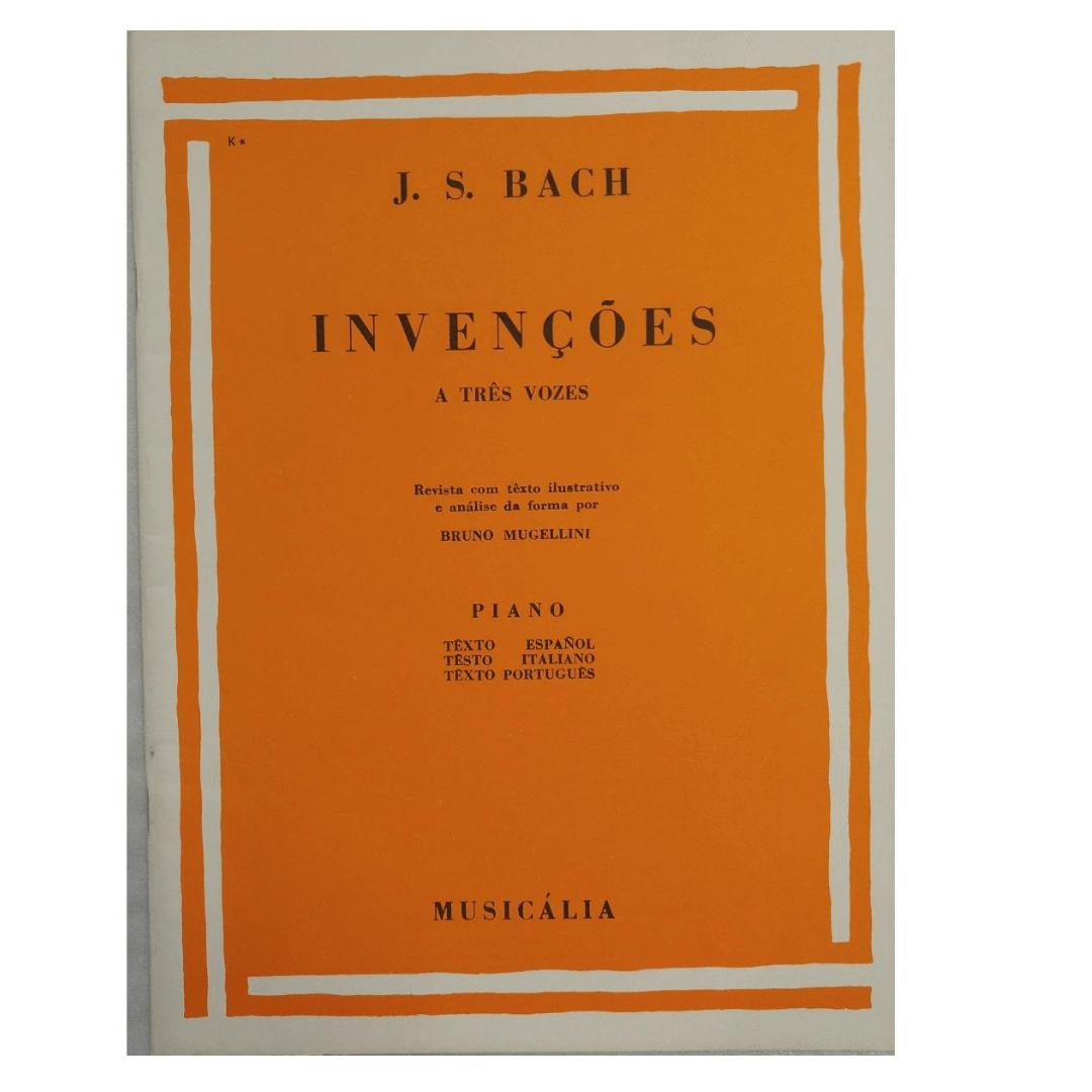 J.S. BACH - INVENÇÕES A TRÊS VOZES - PIANO - MCM0041