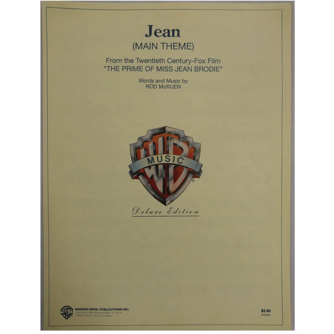 "Jean ( Main Theme ) From the Twentieth Century-Fox Film "" The Prime Of Miss Jean Brodie"" VS1945"