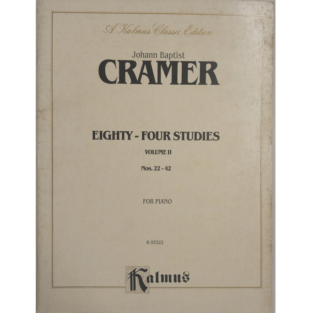 Johann Baptist CRAMER Eighty - four Studies Volume II Nos. 22-42 for Piano K03322 - Kalmus