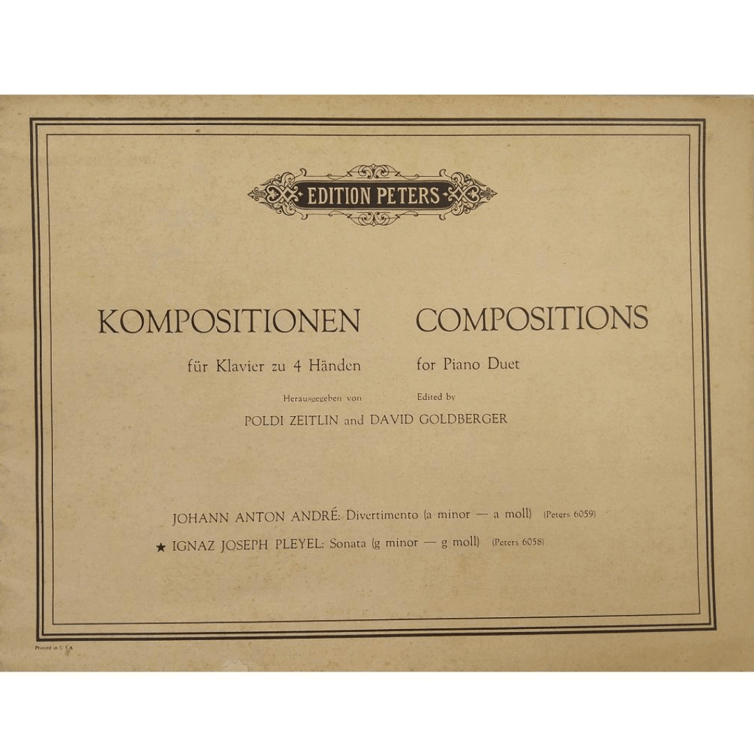 Kompositionen fur Klavier zu 4 Handen / Compositions for Piano Duet - Poldi Zeitlin 6058