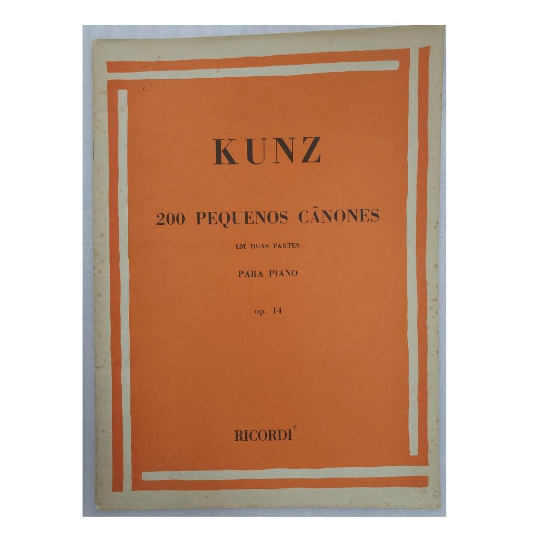 KUNZ 200 PEQUENOS CÂNONES EM DUAS PARTES PARA PIANO - Op. 14 - RB0662