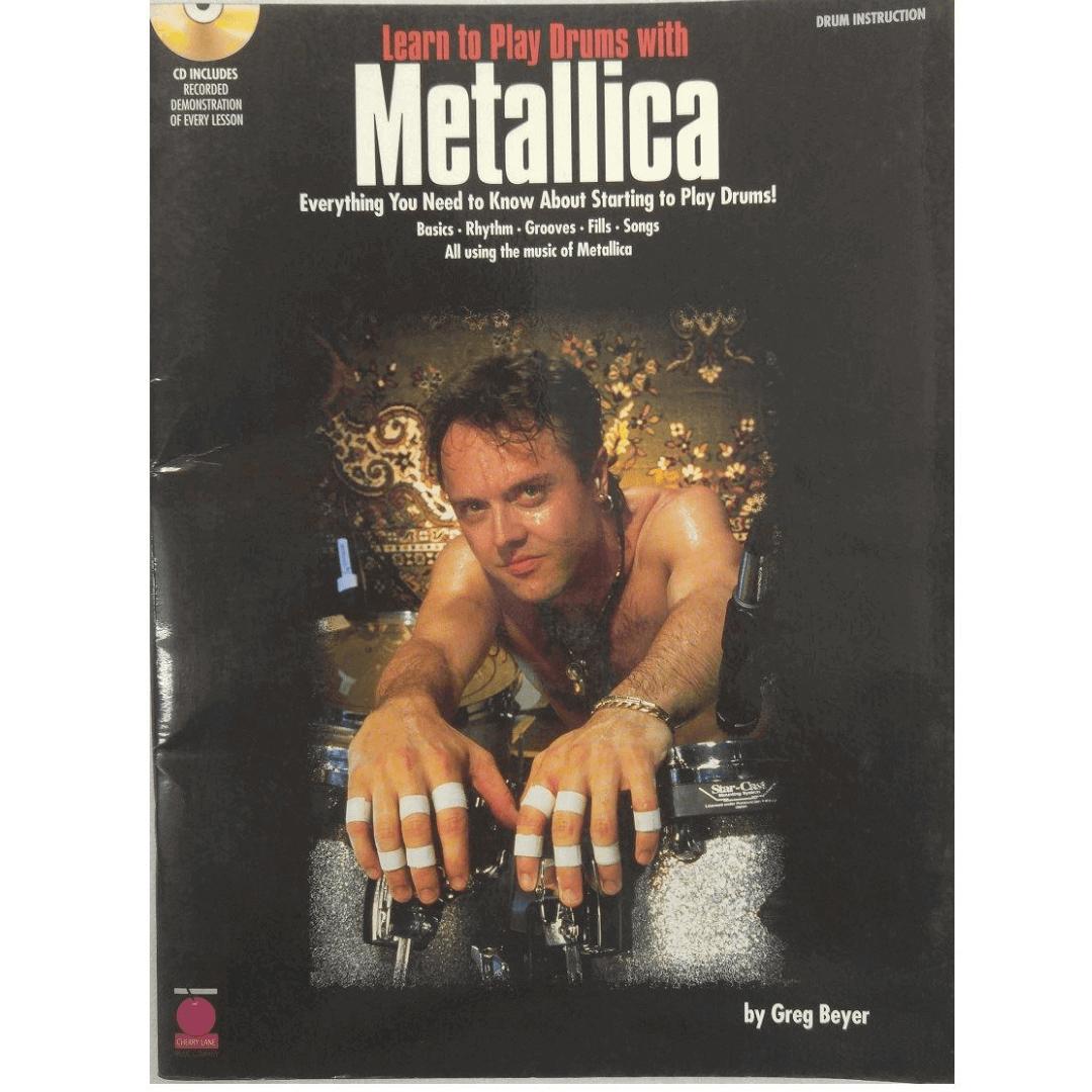 Learn to Play Drums with Metallica - Drum Instruction ( Aprenda a tocar bateria com metálica ) c/ CD - 2500190
