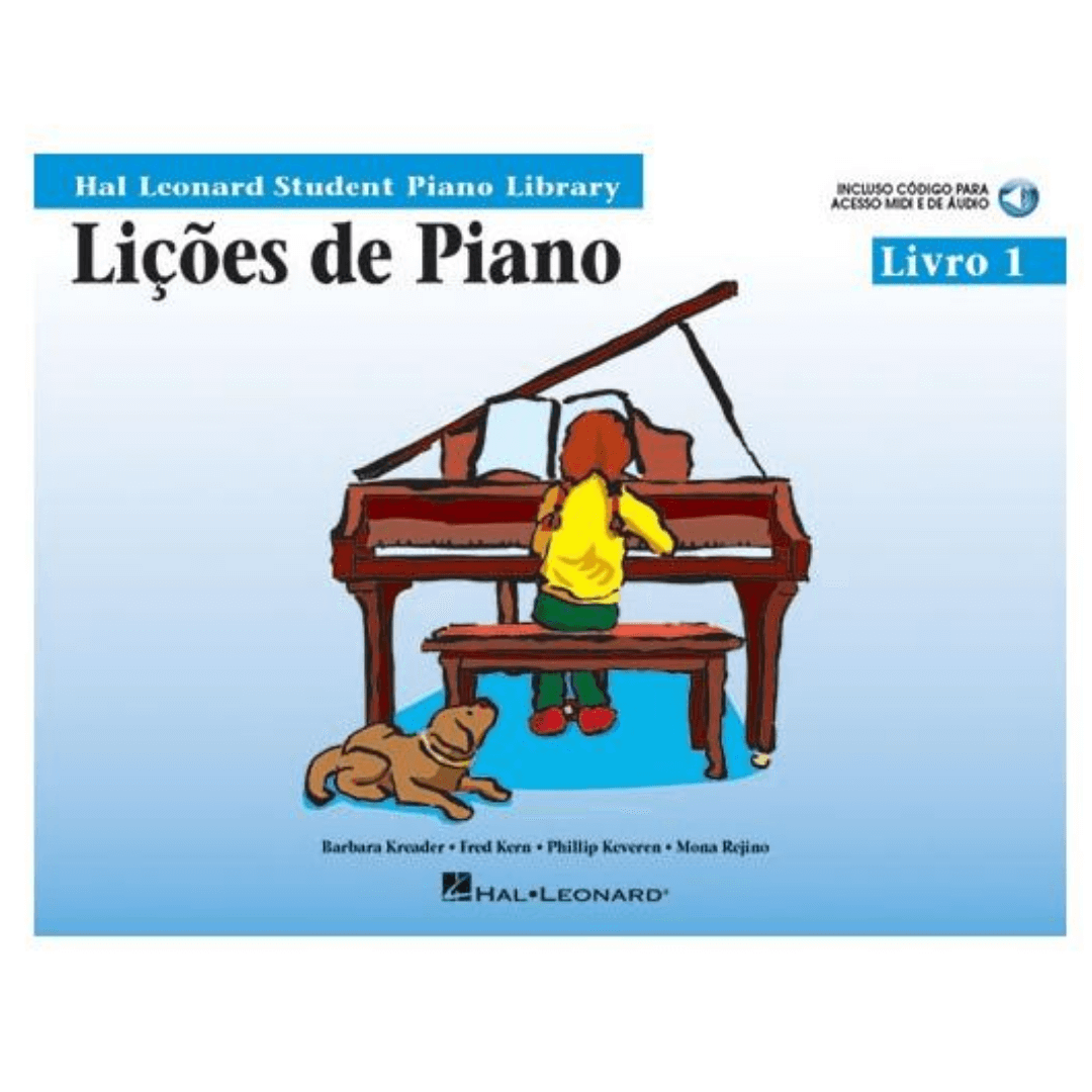 LIÇÕES DE PIANO - Livro 1 - Hal Leonard Student Piano Library HL00120213
