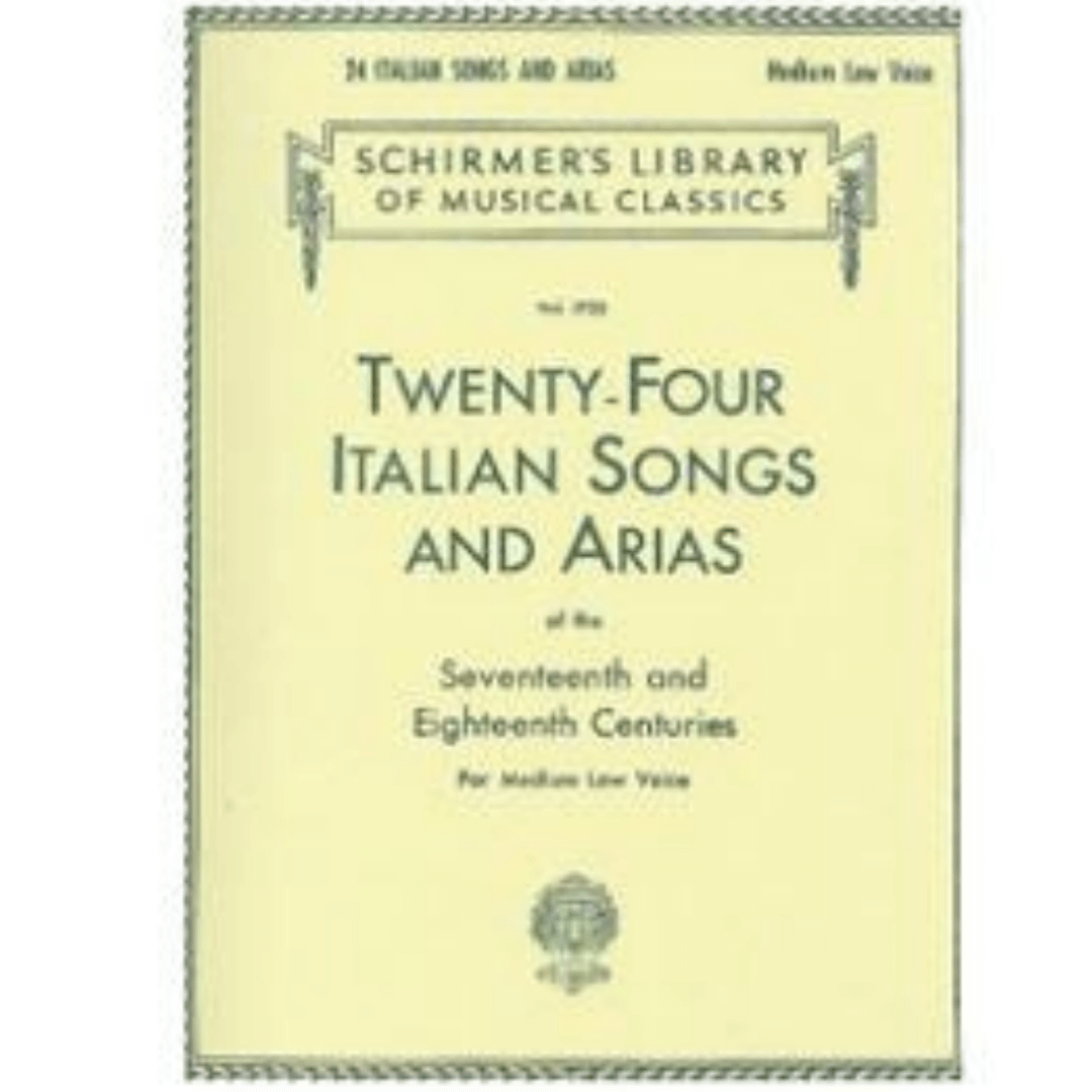 Livro 24 Italian Songs And Arias - Medium Low Voice Vol.1723 - Hl50261150