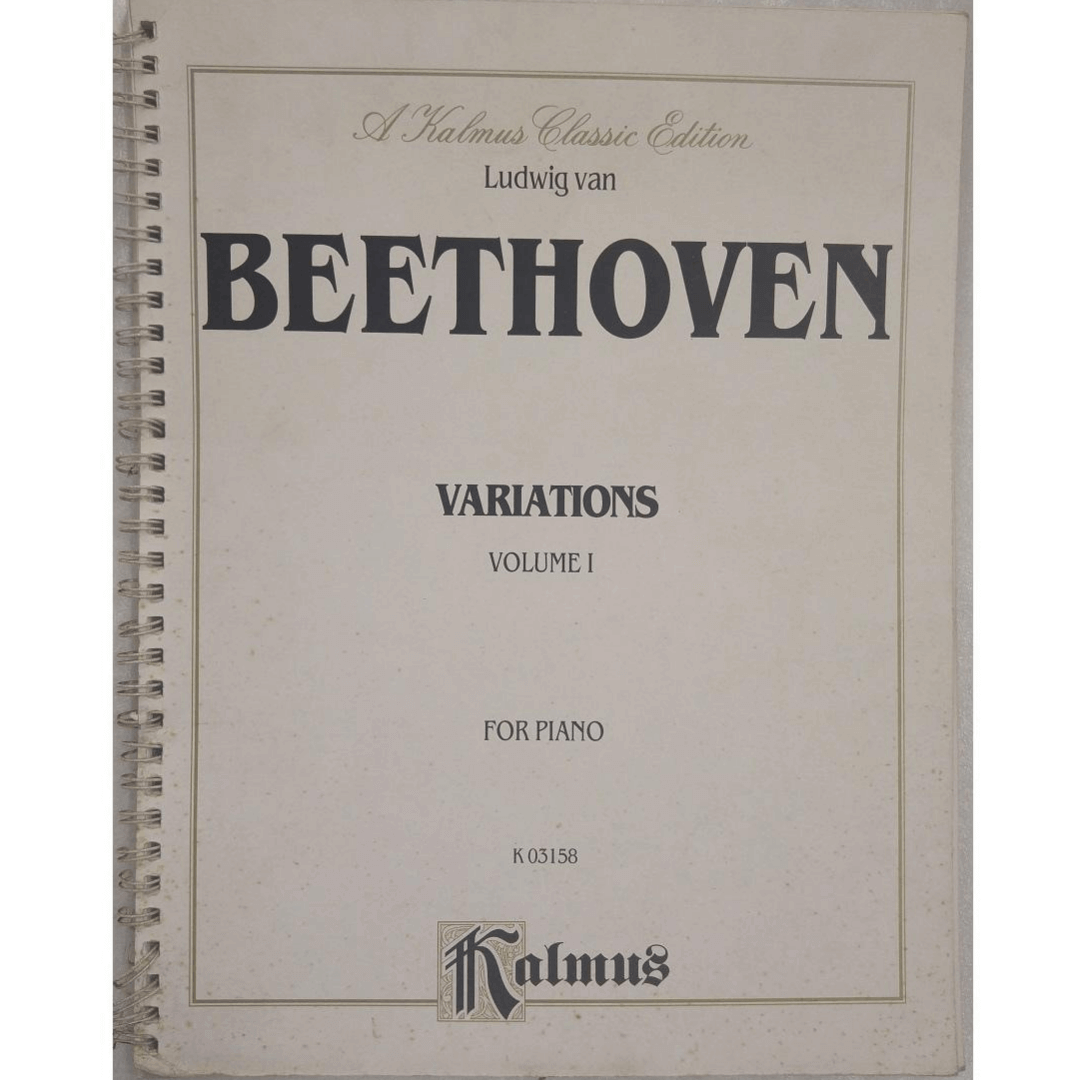 Ludwig van BEETHOVEN Variations Volume 1 For Piano K03158 - Kalmus