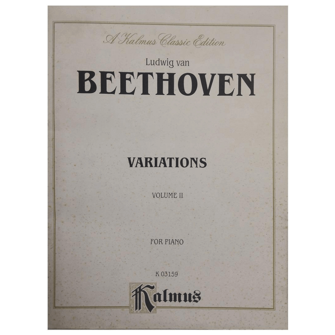 Ludwig van BEETHOVEN Variations Volume 2 For Piano K 03159 - Kalmus