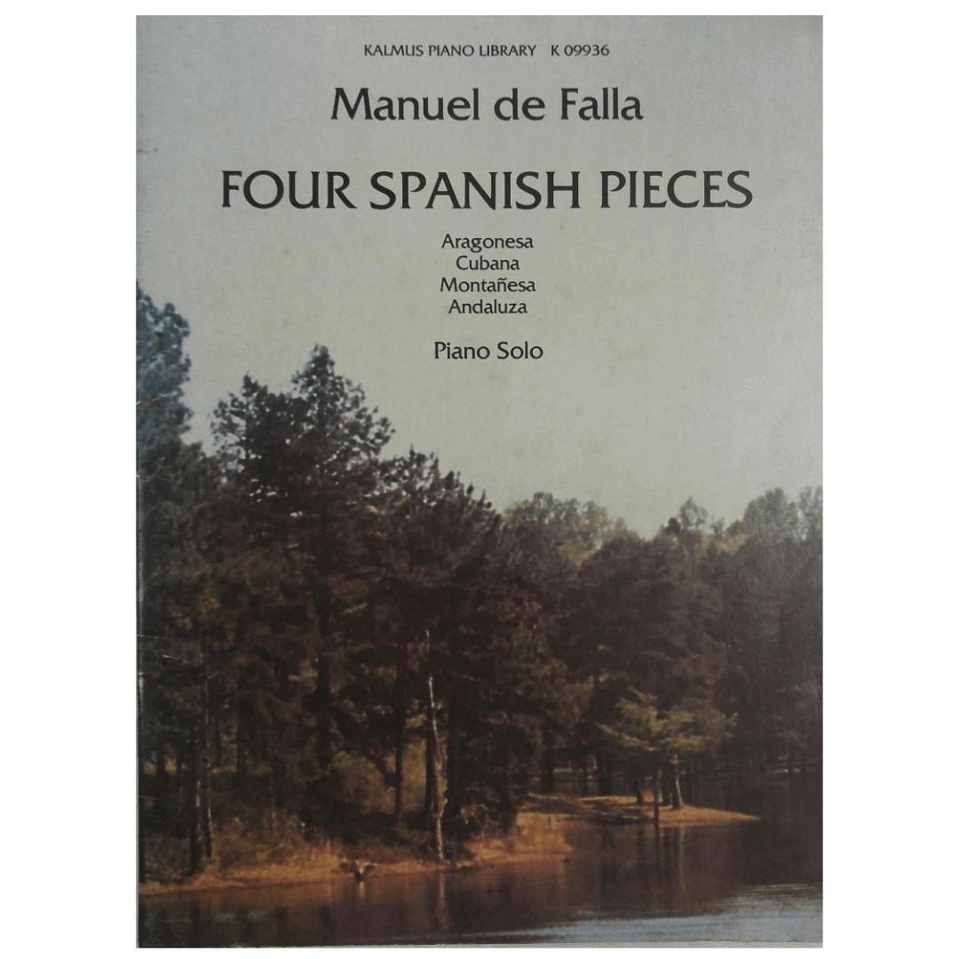 Manuel de Falla Four Spanish Pieces - Aragonesa Cubana Montanesa Andaluza Piano Solo K09936