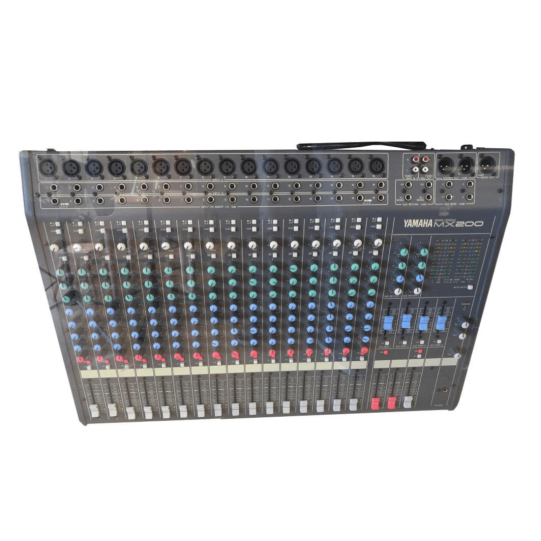 Mesa De Som Yamaha Mx200 - 16 Canais