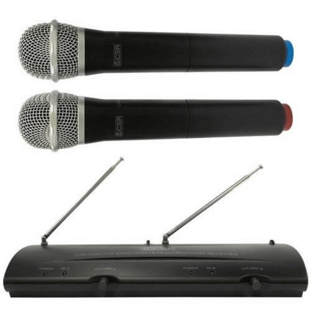Microfone CSR 204H sem Fio de Mão VHF Duplo