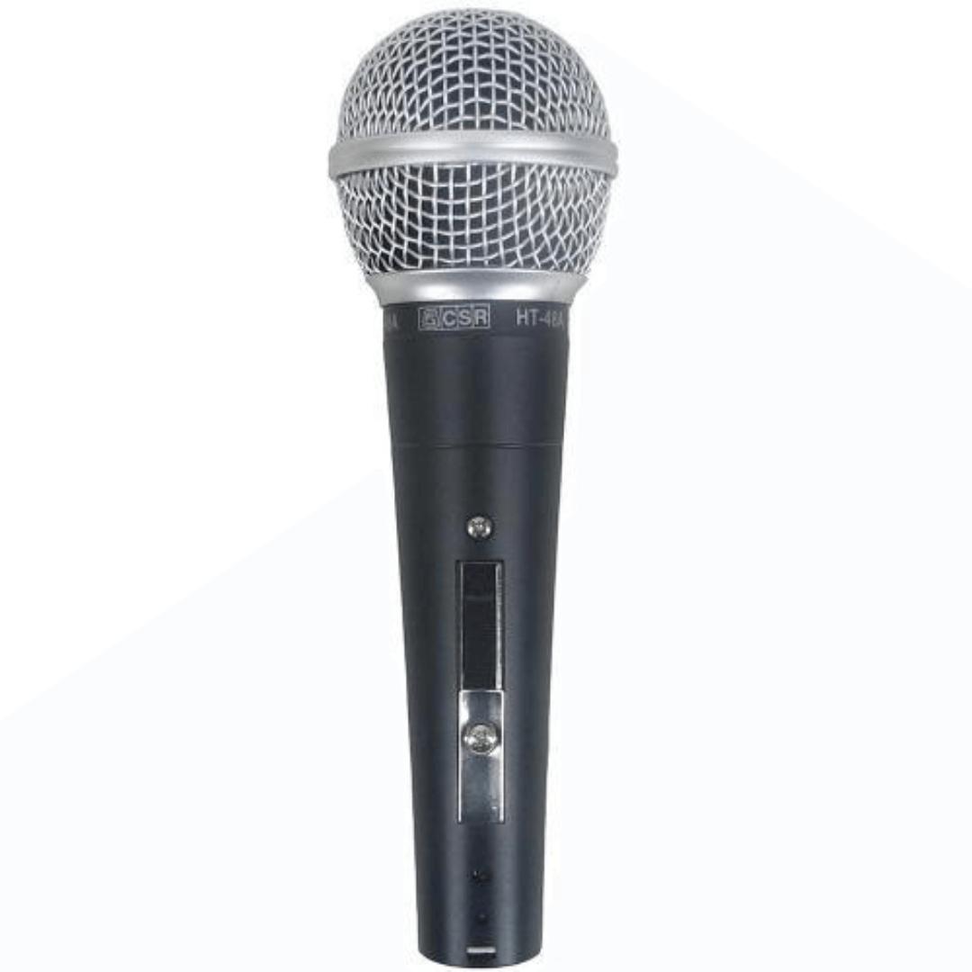 Microfone CSR HT48A com Fio de Mão