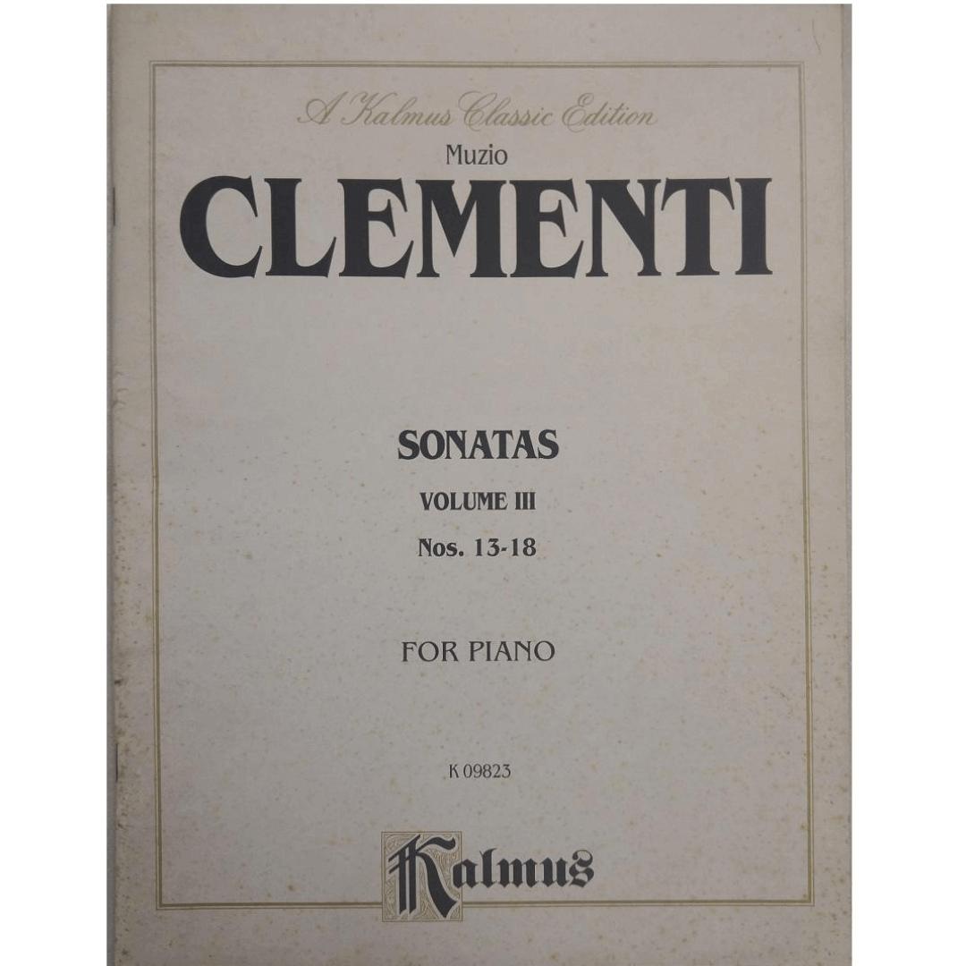 Muzio CLEMENTI Sonatas Volume III Nos. 13-18 for Piano K09823 Kalmus