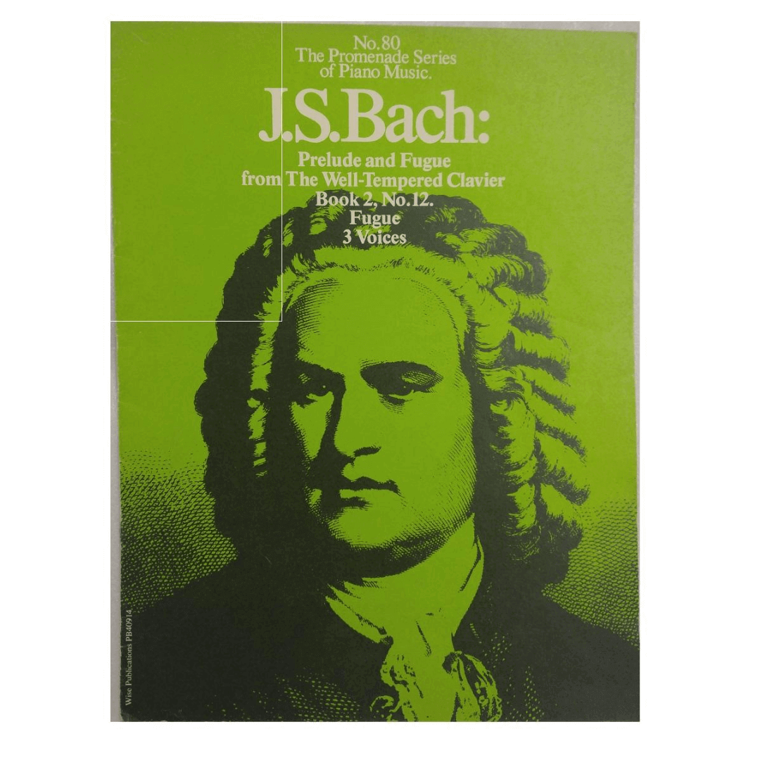 No.80 The Promenade Series of Piano Music. J.S. Bach: Prelude and Fugue from The Well-Tempered Clavi