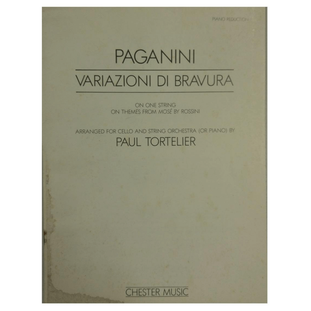 Paganini Variazioni Di Bravura/Arranged for Cello and String Orchestra (or piano) by Paul Tortelier