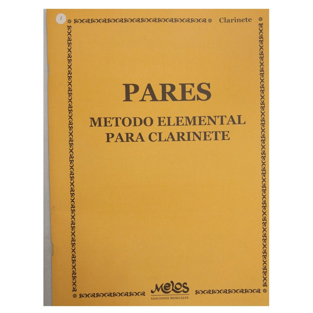 PARES - Método Elemental para Clarinete - BA9741