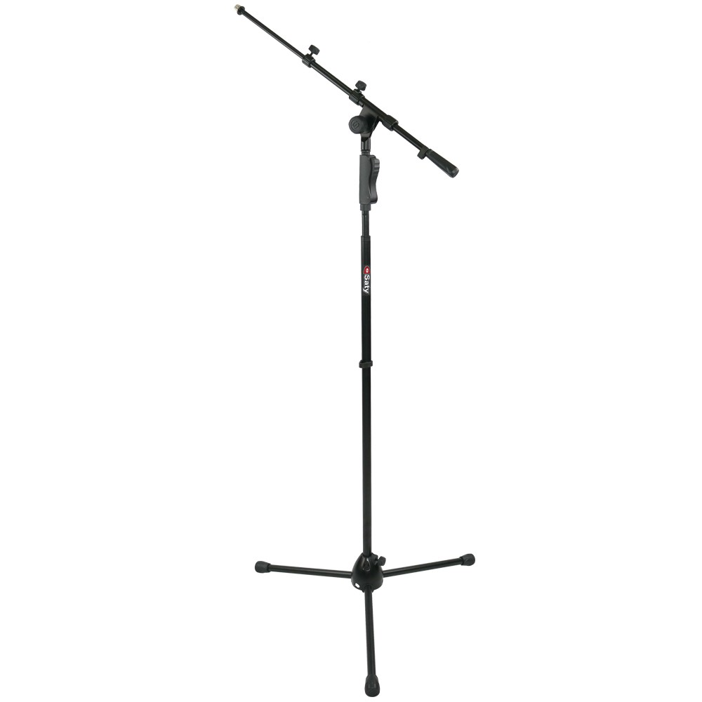 Pedestal Para Microfone Girafa Telescópico Sistema de Regulagem Automático Saty PMG100