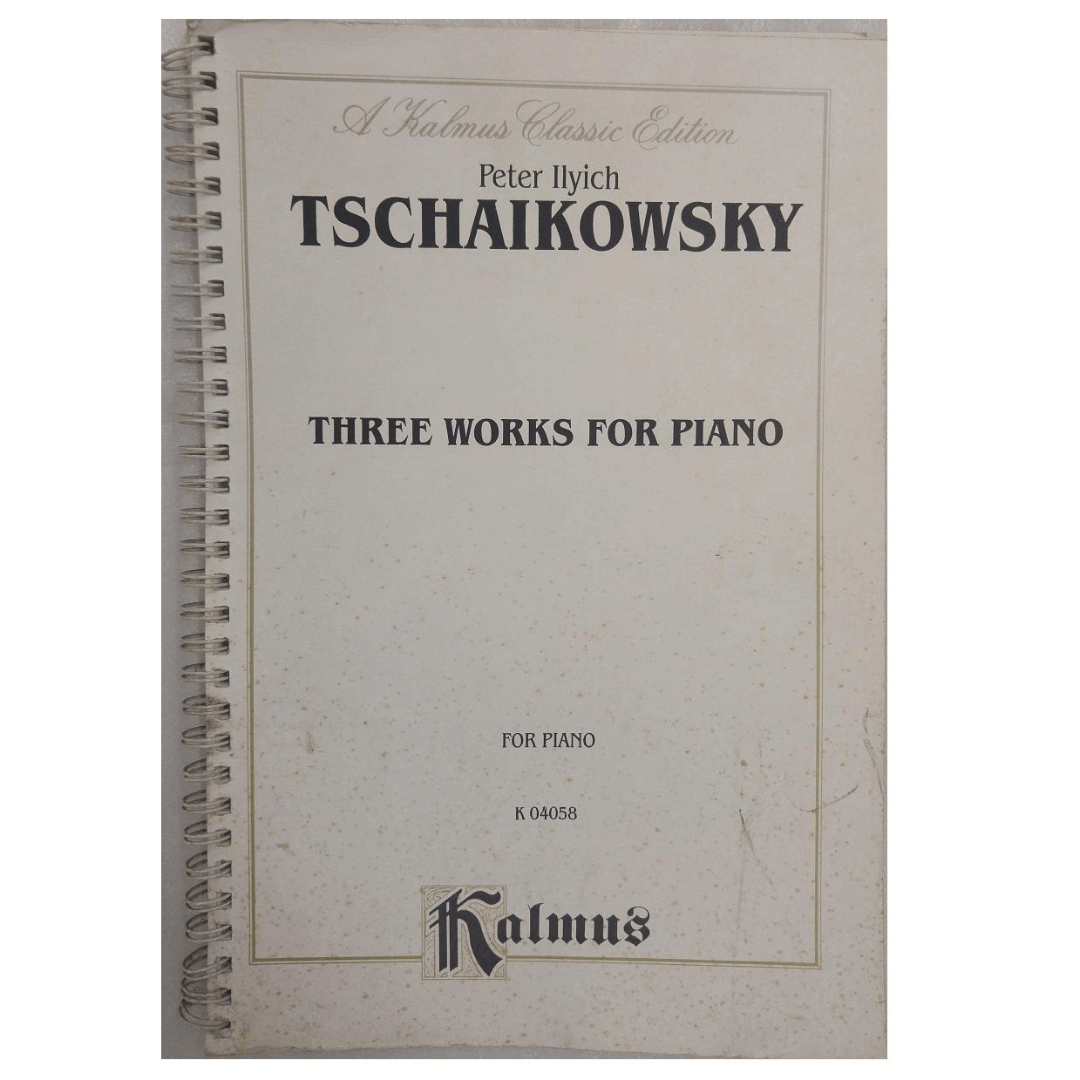 Peter Ilyich Tschaikowsky Three Works for Piano for Piano K 04058 Kalmus