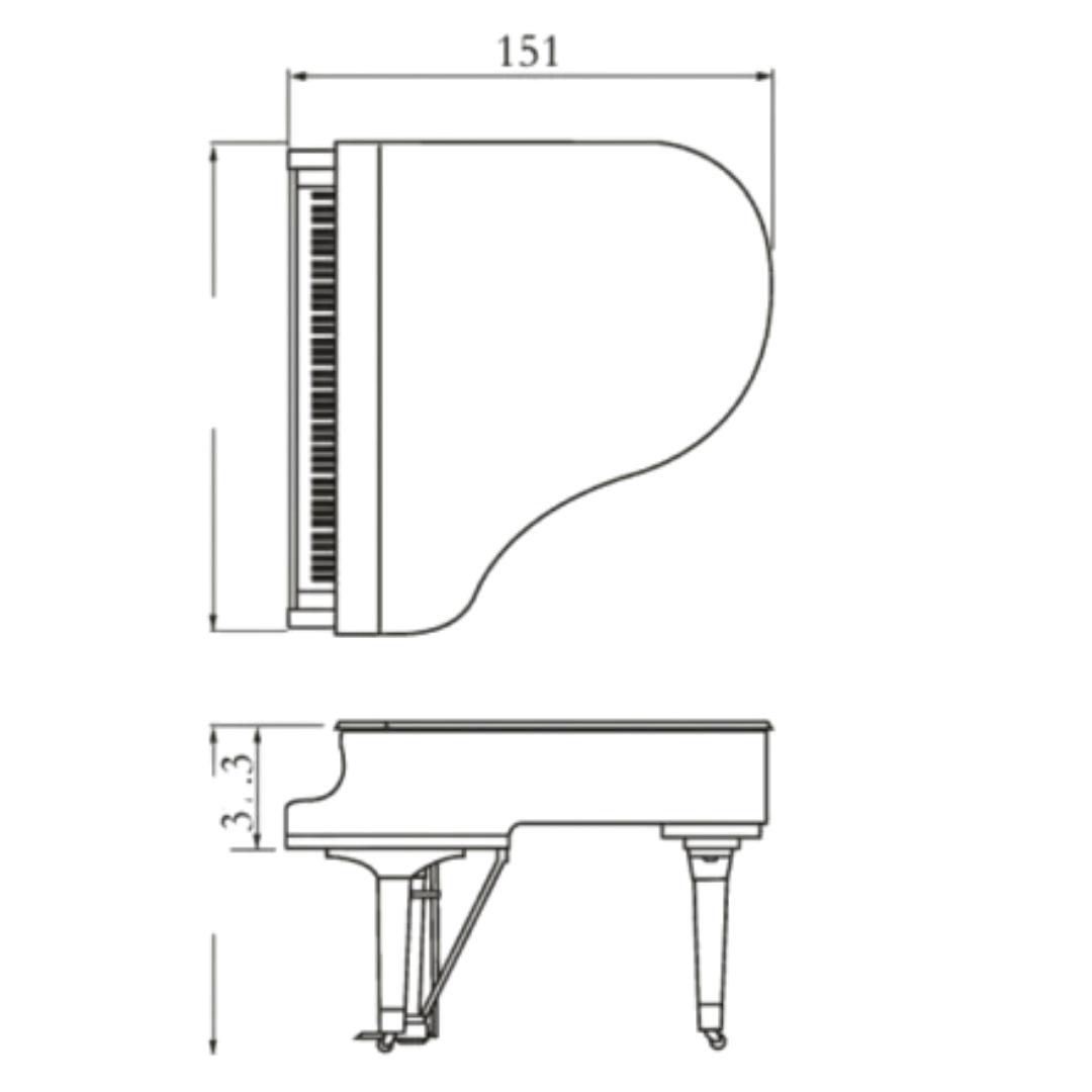 Piano 1/4 cauda Yamaha GB1KS PE Silent SG2