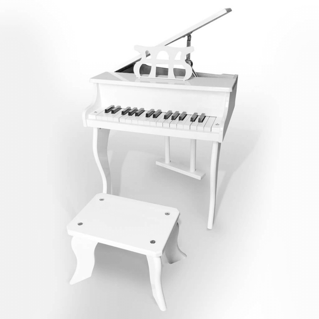 Piano de Cauda Acústico Infantil com 30 Teclas Stradella
