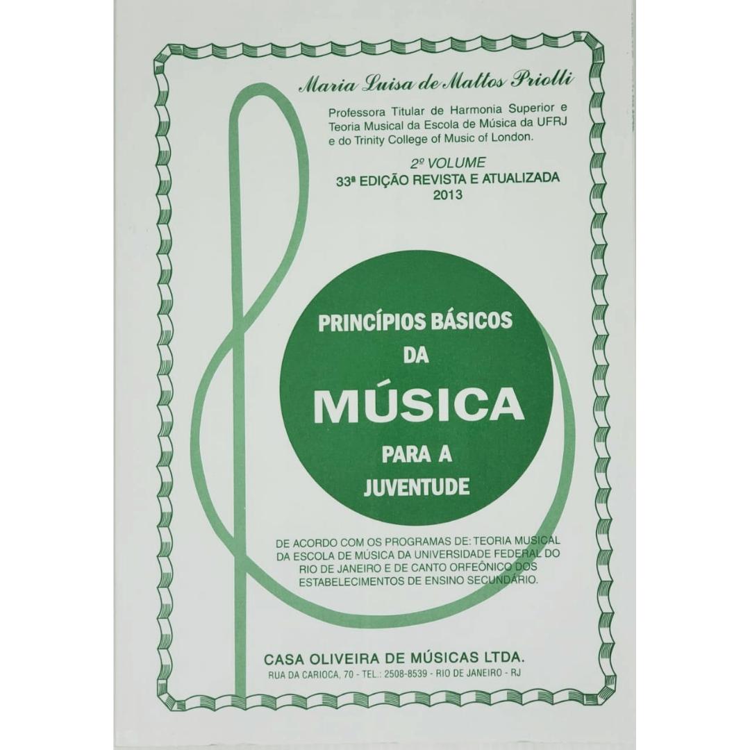 PRINCÍPIOS BÁSICOS DA MÚSICA PARA A JUVENTUDE - 2° VOLUME - Maria Priolli - COPBJ2